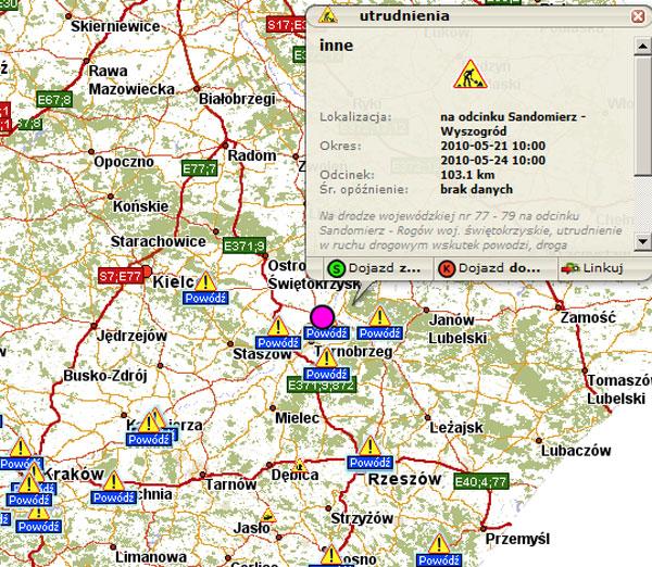 Geoforum Zalane Drogi Mapa Biezacych Utrudnien Na Targeo Pl