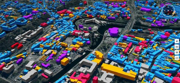 Fragment modelu 3D Bydgoszczy (fot. SHH)