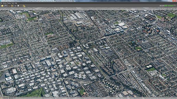 Reality mesh dla miasta Santa Cala w Kalifornii opracowany przez firmę Sanborn (fot. Sanborn)