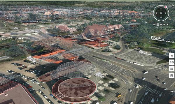 Wizualizacja chmury punktów ze skanowania laserowego dla Poznania