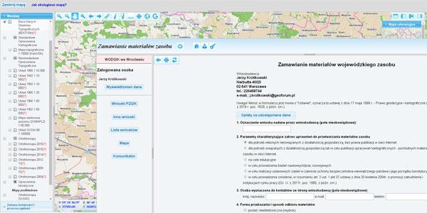 WODGiK Wrocław: zamawianie map przez internet