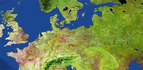 Mapa zmian dynamiki pokrycia terenu