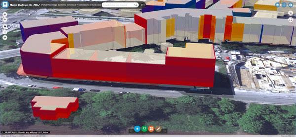 Mapa akustyczna Krakowa w 3D