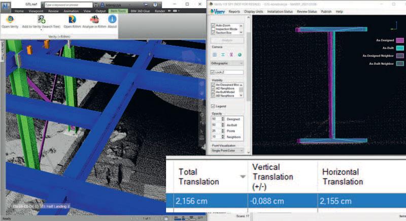 6. Analiza błędów montażu pojedynczej belki (oprogramowanie Clearedge3D Verity)