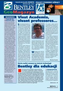 BENTLEY GeoMagazyn - wrzesień 2007, GEODETA 148