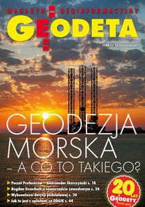 Geodeta - miesięcznik - prenumerata kwartalna już od 31,32 zł