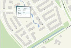 Przykład numeracji budynków przy ul. Hlonda w Warszawie (www.mapa.um.warszawa.pl)