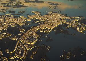 Nietypowa wizualizacja reality mesh dla Helsinek (Fot. Helsinki City Council)