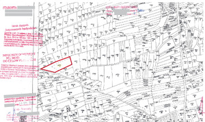 Zał. 1. Fragment kopii mapy ewidencyjnej zzaznaczoną na czerwono działką 2370/1
