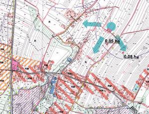 Fragment zwycięskich założeń do projektu scalenia - obiekt Sulmice, gmina Skierbieszów, powiat zamojski