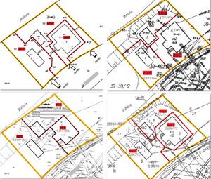Fot. Przykładowe projekty podziału z 11 branych pod uwagę przez sąd
