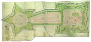 Ryc. Mapa twierdzy jasnogórskiej z projektem jej rozbudowy, 1790 r., Karol Polewski, AGAD, Zbiór Kartograficzny, 94-8