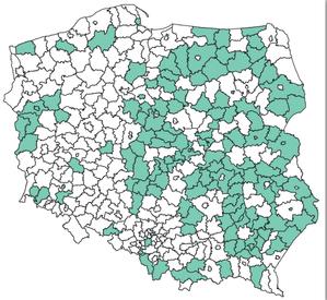 Powiaty posiadające komunikację EGiB ? EKW (stan na 29 kwietnia)