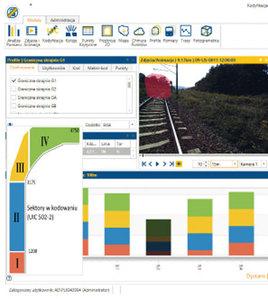 Fot. Widok okna aplikacji w trakcie wyświetlania fragmentu trasy