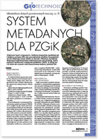 System metadanych dla PZGiK