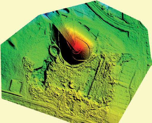 Fragment NMT ze zdjęć z BSL opracowywany dla bardzo trudnego i zróżnicowanego wysokościowo obszaru w rejonie Sosnowca