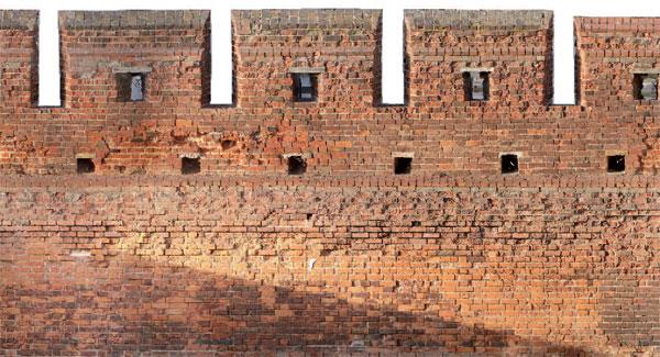 Rys. 5. Ortoobraz zabytkowego muru miejskiego w Gdańsku
