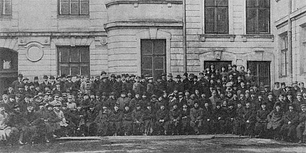 Fot. Delegaci z I Powszechnego Zjazdu Mierniczych Polskich, 6 stycznia 1919