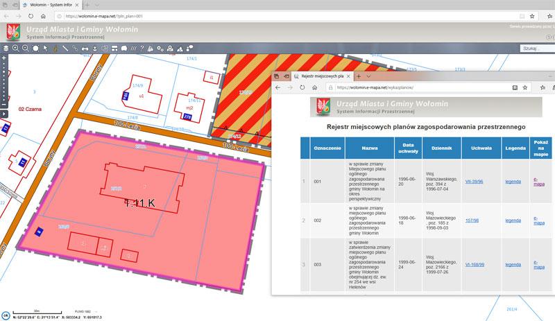 Geoforum Wykazy Miejscowych Planow W Geoportalach E Mapa Net