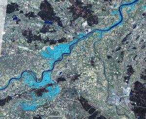 Minister środowiska: Mapa powodziowa jeszcze w tym roku <br /> fot. Gmes.info, mapa z powodzi w Polsce w 2010 r.