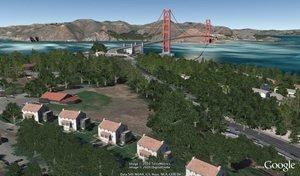 Google Earth 6 z drzewami