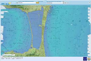 Géoportail z modelem altimetrycznym wybrzeża <br /> fot. Geoportail.fr