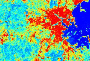 Powstanie mapa topoklimatów Torunia <br /> fot. Urbanheatislands.com