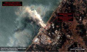 Uszkodzenia w elektrowni Fukushima I okiem satelity