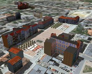 800 budynków w bytomskim konkursie <br /> fot. Google Earth