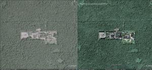 """W """"GW"""" o obiektach wojskowych """"za mgłą"""" <br /> fot. Google Earth"""