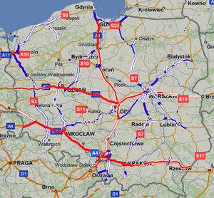 Mapa inwestycji drogowych na Emapi.pl