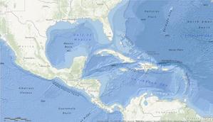 Mapa oceanów Esri