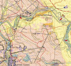 Polski raport na paryskiej konferencji <br /> fot. fragm. mapy hydrograficznej w skali 1:50 tys.