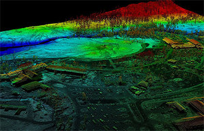 Compass zweryfikuje dane ISOK <br /> fot. OpenTopography.org