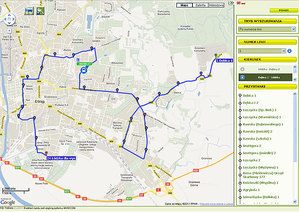 Śledź elbląskie autobusy na mapie