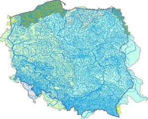Kto dostarczy mapę hydrograficzną dla IMGW?