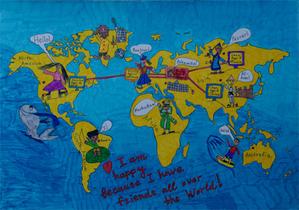 Mapa świata według przedszkolaka