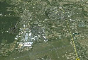 Jeden chętny na mielecki GIS <br /> fot. Google Earth