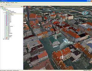 Gliwice w 3D <br /> fot. Msip-mapa.um.gliwice.pl