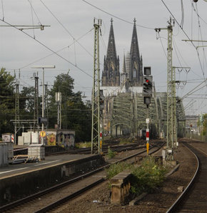 Niemieckim pociągiem po mapie Google'a <br /> fot. JK