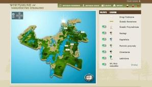 Leśna mapa przyciąga internautów do puszczy