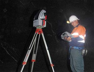 Laserowy skaner do pracy pod ziemią