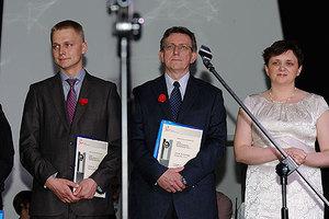 Geoplan nominowany do tytułu lidera nowoczesnych technologii <br /> Pierwszy z lewej: prezes Geoplanu A. Kwiatkowski