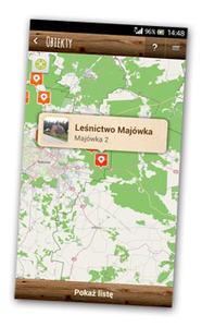 Puszcza Knyszyńska na mobilnej mapie
