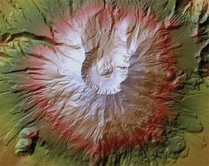 Amerykanie stawiają na laserowe modele <br /> Góra Św. Heleny (fot. USGS)