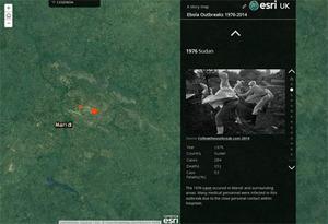 Ebola na interaktywnej mapie
