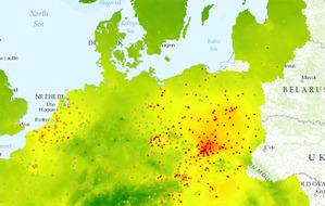 Kto zbuduje geoportal jakości powietrza? <br /> Na fot. Portal jakości powietrza Europejskiej Agencji Środowiskowej