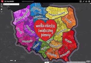 23. Finał WOŚP na interaktywnych mapach