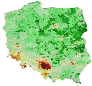 Mapy geochemiczne w Ikarze <br /> Mapa geochemiczna dla ołowiu