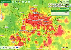 Mapy zanieczyszczeń w ORSIP